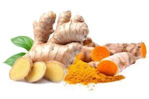 bienfaits du curcuma et le gingembre